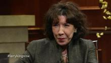 Actress Lily Tomlin talks to Larry King about Laugh-In, gay marriage, & Robert Altman