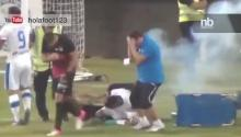 Explosive Detonates In Soccer Players' Faces