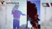 Oh No! Big Tex Burns