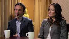 Actors Andrew Lincoln & Sarah Wayne Callies tell Larry King about