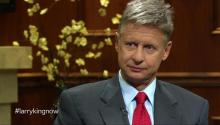Libertarian Gary Johnson talks to Larry King about President Obama, loopholes, & abolishing the IRS