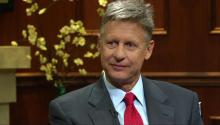 Libertarian Gary Johnson talks to Larry King about political exp