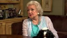 Betty White talks to Larry King about Robert Redford, views on death, & sells lemonade with Larry