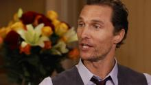 Matthew McConaughey speaks to Larry King on his major weight loss for new role, his son's reaction to getting married and stripping down for