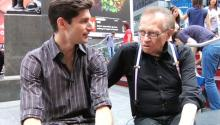 Larry King and Ben Aaron have a New York moment
