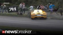 TERRIFYING CRASH: Million Dollar Car Careens into Crowd (CAUGHT ON TAPE)