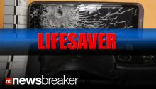 LIFESAVER; A Cell Phone Stops a Bullet from Striking a Store Clerk During Robbery