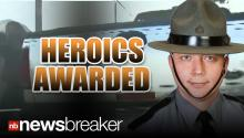 HERO: Cop Receives Award for Saving Another Police Officer; All Caught on Dash Cam