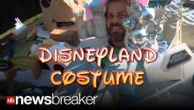 DISNEYLAND COSTUME: Dad Recreates Theme Park For His Head to Wear on Halloween