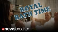 FAKE?: Photos of Prince William and Kate Middleton in the Bath with Prince George