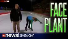 FACE PLANT!: Minneapolis Reporter Talks Effortless Ice Skating, Falls During Live Shot
