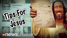 #TIPSFORJESUS: Man Leaves Thousands of Dollars in Tips; Posts Proof on Instagram Account