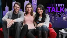Timothy Simons and Nikki Limo on Tiny Tiny Talk Show - Sneak Peek