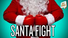 Santa Brawl in NYC!