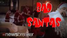BAD SANTA: Guys Dressed in the Big Red Suit Get into Huge Fight on Streets of NYC