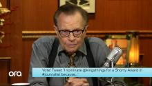 Shorty Awards: Larry King's Two Cents on Why He Should Win For #Journalist