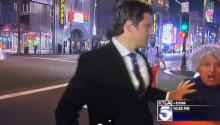 Guy Tries To Videobomb Reporter, Reporter Handles Him Like A Boss