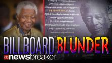 BILLBOARD BLUNDER: Morgan Freeman Mistaken for Nelson Mandela