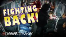 FIGHTING BACK: Surveillance Video Catches Passengers Attacking Robber on Bus