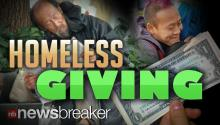 UNSELFISH STRANGER: Man Pretends to be Homeless; Rewards Generous Givers