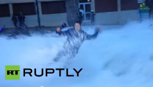 That Awkward Moment When You're Reporting The News And A Massive Wave Takes You Out