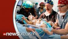 Conjoined Twins Connected at Chest and Abdomen Separated in Historic Operation