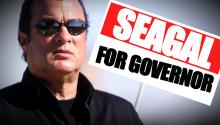 GOVERNOR RACE: Actor Steven Seagal Considers Bid for Office while Promoting New Show