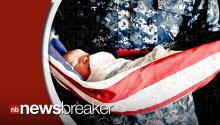 Photo Released Capturing Baby Cradled in American Flag Causes Outrage Online