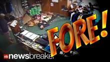 Man Falls Through Ceiling into Golf Pro Shop; Continues on As If Nothing Happened