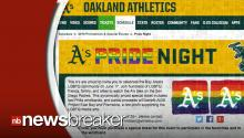 "Oakland A's Pitcher, Girlfriend Raise Thousands for ""Pride Night""; Buy Tickets to Fill Stands"