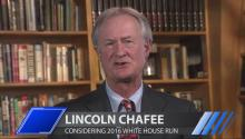 Lincoln Chafee: Hillary's Iraq War Vote Should Disqualify Her in 2016