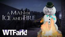 A MAN OF ICE AND FIRE: Swiss Holiday Celebrates Spring By Burning And Exploding A Snowman