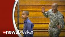 North Carolina Military Father Surprises Son in School Picture 'Photo Bomb' Homecoming