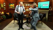 Cha Cha And Booty Dance: Nigel Lythgoe Teaches Larry King Some Dance Moves