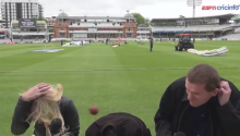 Ouch! ESPN Reporter Gets Nailed By A Cricket Ball. And Takes It Like A BOSS.