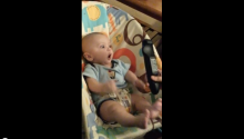 Baby + Remote Control = OMG STOP IT, ADORABLE OVERDOSE.