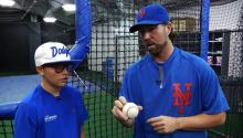 R.A. Dickey teaches how to throw a knuckleball video