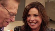 Rachael Ray Helps Larry Cook Salmon
