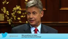 Libertarian Presidential Candidate Gary Johnson Answers Your Social Media Questions
