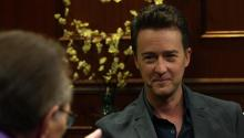 Actor Edward Norton talks to Larry King about not reprising Hulk, Obama's first term, & Bourne Legacy