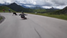 You Know, Just Blowing By Cyclists As I Skateboard Down The Alps. No Bigs.