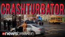 CRASHTURBATOR: Man Crashes Into Restaurant Strips Naked and Masturbates in Intersection