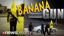 BANANA GUN: Police Called to Investigate Man Wielding AK-47 in Public to Promote Store; Simply Cited for Soliciting