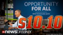 $10.10: President Obama Signs New Law Raising Federal Hourly Wages Up Almost $3 from $7.25
