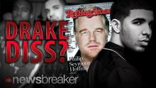DRAKE DISS?: Rapper Not Happy Rolling Stone Replaced His Cover with Philip Seymour Hoffman Tribute