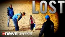LOST: Touching Photo of Moment UN Workers Find 4 Year Old Refugee in Vast Desert While Escaping Syria