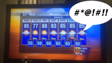 We're Just Going To Assume That This Was How This Weatherman Decided To Quit His Job
