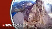 Terrifying Video Shows Mountain Climbers Crawling Along Narrow Summit