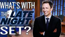 Late Night with Seth Meyers and his Crappy Set