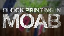 Block Printing in Moab